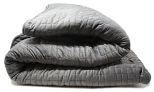 My Calm Weighted Blanket Review - Grey Fabric