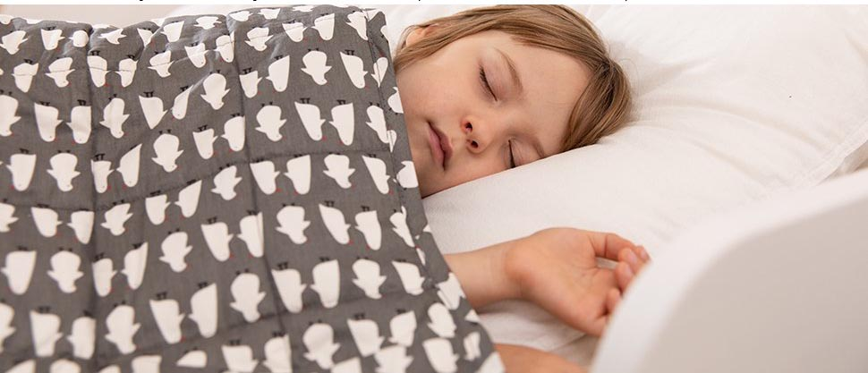 weighted blanket to help toddler sleep